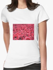 Gerbera background Womens Fitted T-Shirt