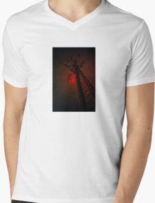 Strawberry Moon Tower Mens V-Neck T-Shirt