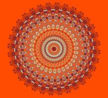 Orange Spice Mandala Kids Tee