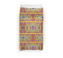 Abstract Stained Glass Colorful Rainbow Vivid Mosaic Duvet Cover