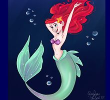 Mermaid with Bubbles by Giulia1art