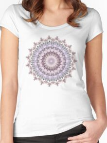 Purple Vintage mandala  Women's Fitted Scoop T-Shirt