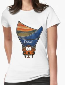 Silent scream against decaf... Womens Fitted T-Shirt