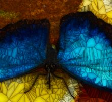 Stained Glass Butterfly Sticker