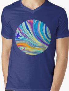 rainbow swirl Mens V-Neck T-Shirt