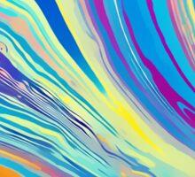 rainbow swirl Sticker