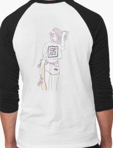 SKATER GIRL / PASTEL PINK VERSION. Men's Baseball ¾ T-Shirt