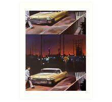 Yellow Cadillac Art Print