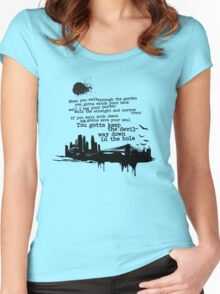"""""""Way Down In The Hole"""" - The Wire - Dark Women's Fitted Scoop T-Shirt"""