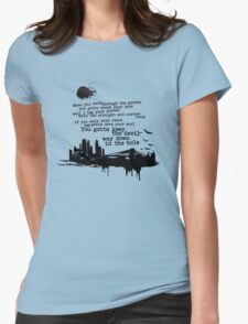 """Way Down In The Hole"" - The Wire - Dark Womens Fitted T-Shirt"