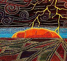 Storm Over Uluru by JoAnn Glennie