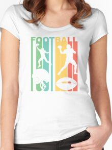 Retro Football Women's Fitted Scoop T-Shirt