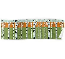 Birches in Spring Poster