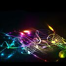 Music Notes in Color for Music-lovers by Val  Brackenridge