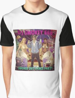 Dj Smokey - Smoked Out Dance Party Album Art Graphic T-Shirt