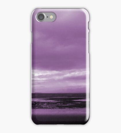 Rain Clouds At Sand Bay iPhone Case/Skin