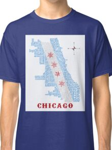 Chicago Flag Neighborhood Map Classic T-Shirt