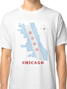 Chicago Flag Neighborhood Map Classic T-Shirt