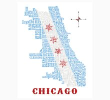 Chicago Flag Neighborhood Map Unisex T-Shirt