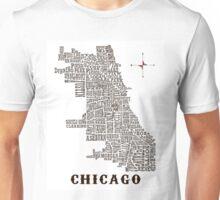 Chicago Neighborhood Map Unisex T-Shirt