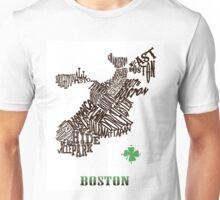 Boston Clover Neighborhoods Map Unisex T-Shirt