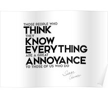 think they know everything - isaac asimov Poster