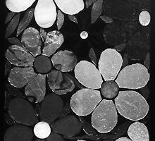 Black & White Garden of Flowers, Mosaic by WonderMeMosaics
