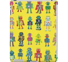 Robot Line-up on Yellow iPad Case/Skin