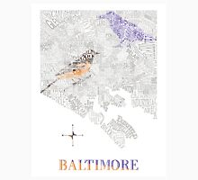 Baltimore City oriole/raven Neighborhood Map Unisex T-Shirt