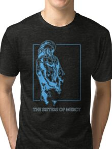 The Sisters Of Mercy - The Worlds End - Back Blue Tri-blend T-Shirt