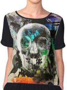 skull explosion Chiffon Top