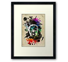skull explosion Framed Print