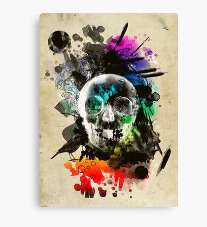 skull explosion Canvas Print