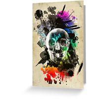 skull explosion Greeting Card