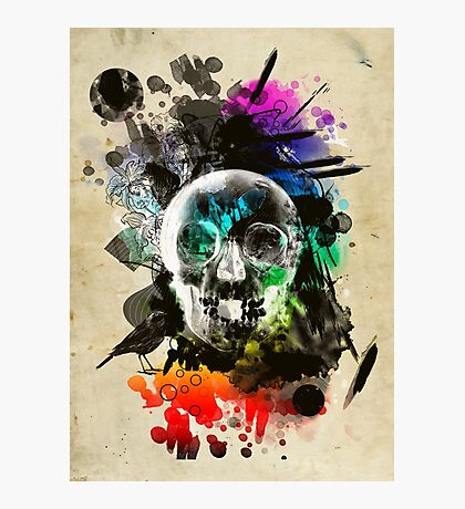 skull explosion Photographic Print