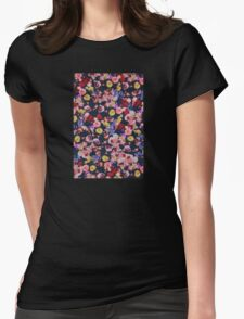 Elegant flowers Womens Fitted T-Shirt