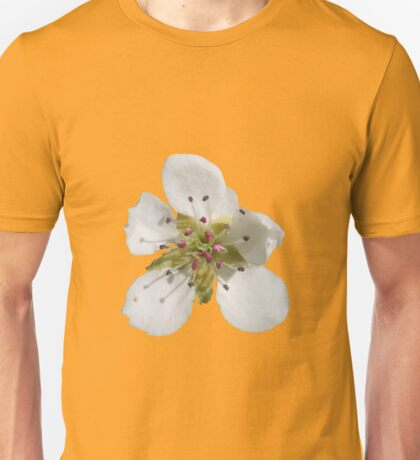 a peach blossom on buttercup background Unisex T-Shirt