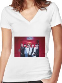 BTS GROUP - DOPE #2 Women's Fitted V-Neck T-Shirt
