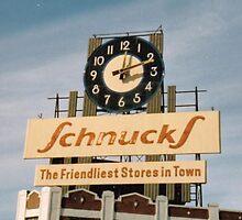 Former Schnucks Dairy Building clock  by Dwaynep2010
