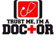 Trust Me I Am A Doctor Stethoskop Logo by Style-O-Mat