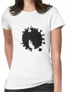 Minecraft world Womens Fitted T-Shirt