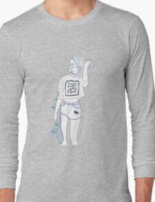 SKATER GIRL / BABY BLUE VERSION Long Sleeve T-Shirt