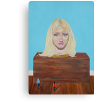 """Museum of strange things No1 """"Study of a blonde girl"""" Canvas Print"""