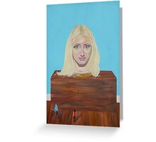 """Museum of strange things No1 """"Study of a blonde girl"""" Greeting Card"""