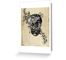skull crystallisation Greeting Card
