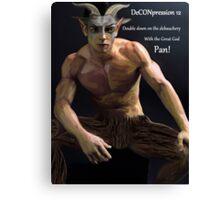 DeCONpression 12 Dark Pan Double Down Canvas Print