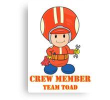 Team Toad Crewmember Canvas Print