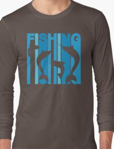 Retro Fishing Long Sleeve T-Shirt