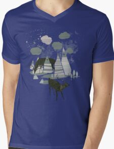 magic mountains Mens V-Neck T-Shirt