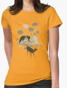magic mountains Womens Fitted T-Shirt